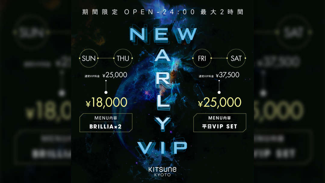 NEW EARLY VIP